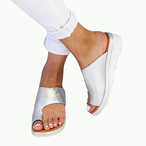 Belukies Frauen Bequeme Plattform Sandale Schuhe Sommer Strand Reise Schuhe,Bunion Splints, Damen Big Toe Hallux Valgus Unterstützung Plattform
