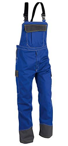 KÜBLER Workwear KÜBLER Safety X Arbeitslatzhose blau, Größe 48, Herren-Arbeitslatzhose aus Mischgewebe, antistatische Arbeitslatzhose