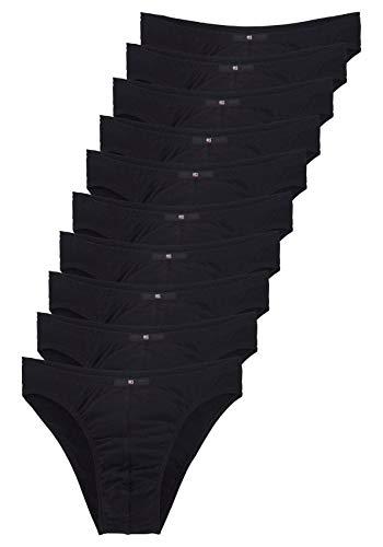 H.I.S Herren Slips, Unterhosen, 10er Pack (4, schwarz)
