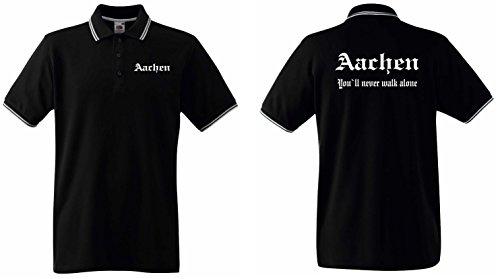 world-of-shirt / Aachen Herren Polo-Retro Fan Ultras