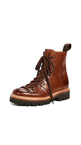 Grenson Women's Nanette Combat Boots, Tan Handpainted, 10.5 Medium US