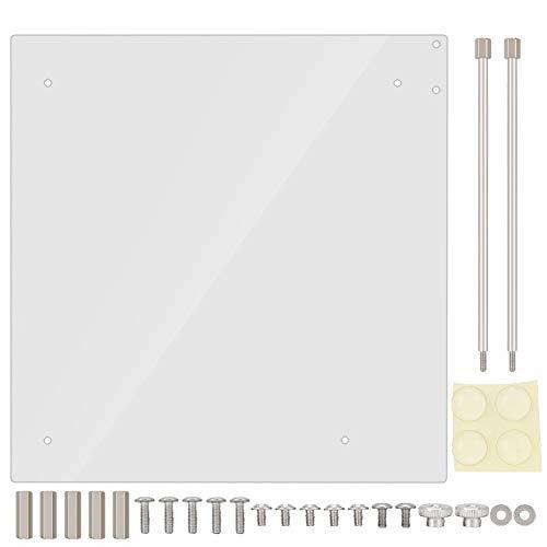 Diyeeni Acryl Rahmen Open transparent Mode DIY Base Stand geeignet für ITX Motherboard, Overlock Computer Case Base Kann Hochleistungs-PC aufnehmen