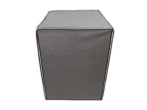 Acomoda Textil - Funda de Lavadora 60x84x60 cm. Funda Impermeable de Carga Frontal, Protectora de Lluvia, Sol y Polvo. (Gris)
