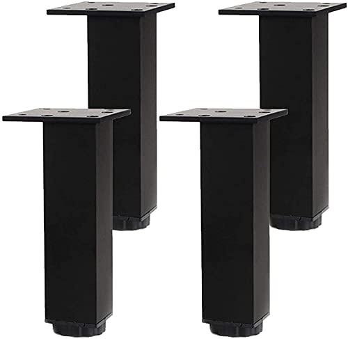 WYBW Pies de soporte para muebles, Patas de metal para muebles, Patas de muebles ajustables, Patas de mesa, Patas de cocina, Patas de soporte para pies de gabinete de tv de aleación de aluminio Patas