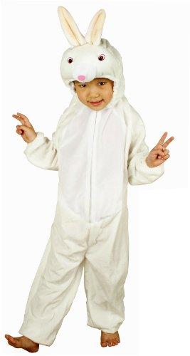 Fun Play - Disfraz de Conejo para niños - Disfraz de Animal - Mono de una Pieza para Niños y Niñas - Disfraz para niños de 3-5 años (110cm)