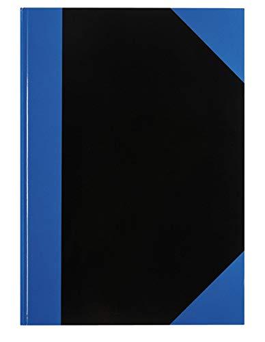 Idena 542900 - Kladde DIN A4, 96 Blätter, 70 g/m², liniert, Cover blau/schwarz, 1 Stück