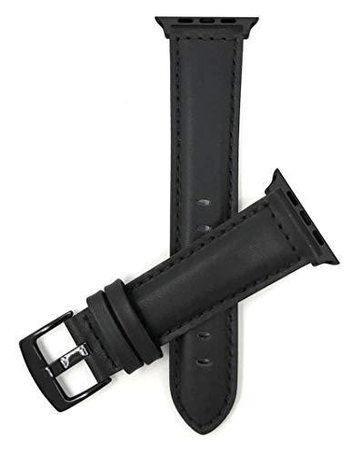 Correa de repuesto para reloj de Apple Watch, extra larga (XL), compatible con Apple Watch Series 5, 4, 3, 2, 1 y correa iWatch – hebilla negra y conector negro – 42 mm/44 mm