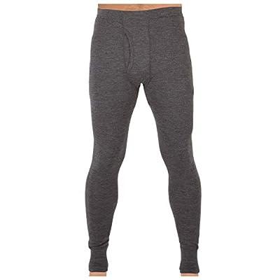 MERIWOOL Mens Base Layer 100% Merino Wool Thermal Pants Charcoal Gray