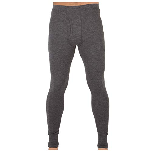 MERIWOOL Mens Base Layer 100% Merino Wool Thermal Pants Charcoal Gray