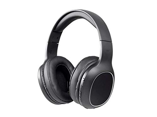 Monoprice BT-200 Bluetooth Over Ear Headphone - Black, Lightweight, Designed for Comfort, On Ear Controls & Built-in Microphone