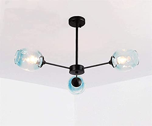 Iluminación Colgante 3 luces Villa Colgante Luces para sala de estar Estilo nórdico Restaurante Luces colgantes Escalera Lámpara de araña Simple lámpara para techos altos Lámpara de techo dúplex moder
