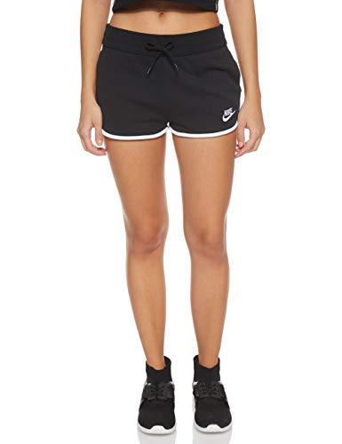 Nike W NSW HRTG Short FLC, Pantaloncini Donna, Black/White/White, L