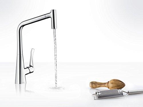 Hansgrohe – Metris Küchenmischer, ausziehbare Brause, schwenkbar, Komfort-Höhe 320 - 2
