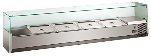 Accesorio para enfriar pizza con accesorio de cristal, vitrina de refrigeración, para hostelería