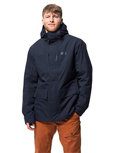 modische Winterjacke für Herren, Outdoor Jacke für Herren mit warmer Wattierung, wasser-, winddichte & atmungsaktive Herren Winterjacke
