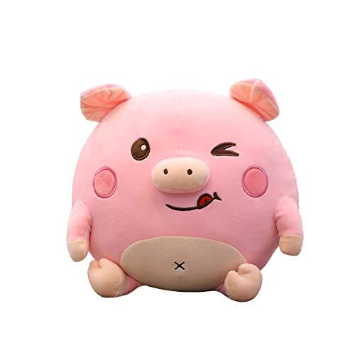 DaoRier Kuscheltier Kinder Plüschtier Cartoon Schwein Plüsch Spielzeug Stofftier Weiche Tier Spielzeug Plüsch Tierkissen Size 40cm