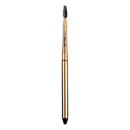 Makeup Pinsel Augenbrauenbürste Weiches Haar Abgeschrägt Tragbar Mit Abdeckung Anfänger...