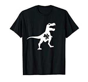 patrex holiday t shirts for boys and girls, daughter and son -if you like dinosaurs funny and cute dinosaur Tshirt suitable for St patricks day and any other day. cute dinosaur tee shirt (with a shamrock in the middle). for your youngster's Irish fes...