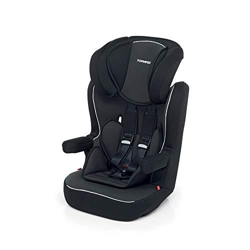 Foppapedretti Express Seggiolino Auto, Gruppo 1/2/3, 9-36 kg, per Bambini da 9 Mesi a 12 Anni, Nero (Black)
