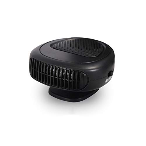 Z&LEI Calentador de Ventilador de automóviles de 12V, 2 en 1 Calefacción de calefacción Calentador de automóviles Automóviles Defogger Defreter for Cars Camping and Travel,Negro