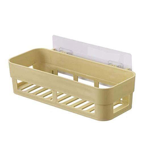 Plank handdoekhouder badkamer mand plastic Praktische home keuken magazijnrek wand anti-slip gebruiksvoorwerpen staander houder rek 26 cm (kleur: roze) geel