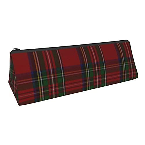 Elegante bolsa de almacenamiento de tela escocesa Royal Stewart de pequeña capacidad, para niños, niñas, colegio, escuela, oficina, alicates de papelería