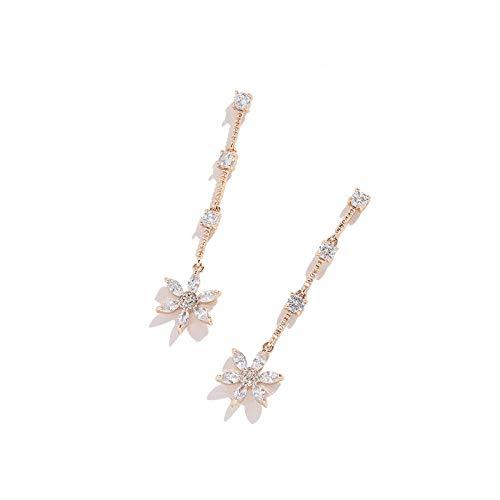 XAJH Women'S Earrings,Flower Tassel Stud Earring Drop Earrings,Retro Personality Charm Jewelry For Girls Wedding Jewelry Accessories With Gift Box