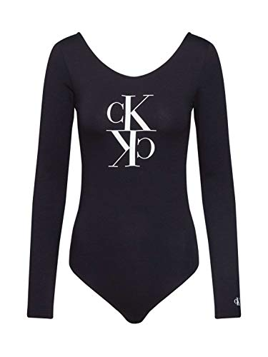Calvin Klein Jeans Damen Mirrored Monogram Body Hemd, Ck Black, XL