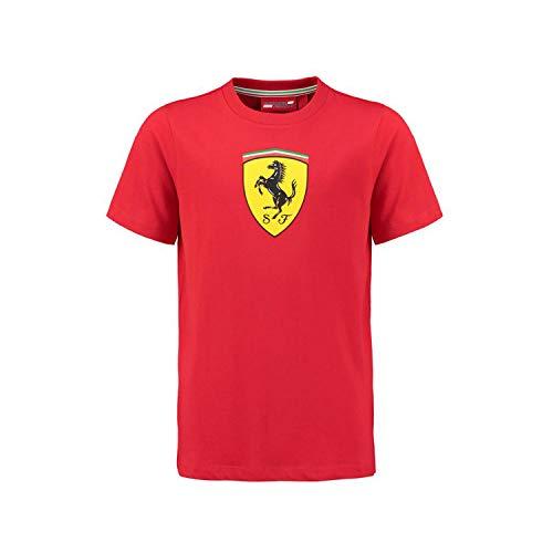 Ferrari Scuderia 2018 - Camiseta clásica para niños, Color Rojo, 7-8