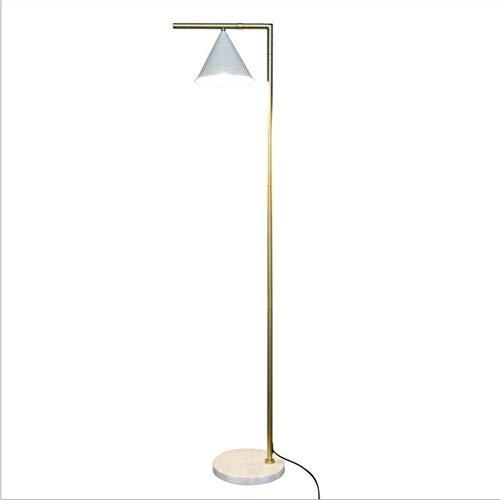 UWY Lámpara de pie LED, luz de Piso de Sala de Estar Moderna con Cuerpo de lámpara Dorada, Base de mármol y Interruptor de pie Lámpara de pie LED de Metal, luz de Piso LED Simple para Sala de es
