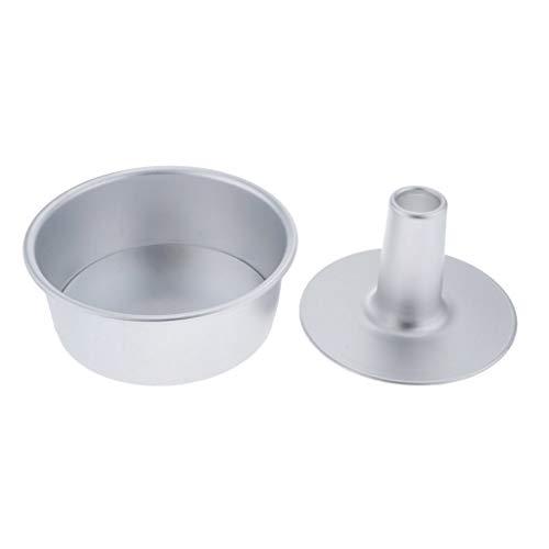 FLAMEER Kuchenform Chiffon Aluminium Backform antihaftbeschichte Napfkuchen Form Round Cake Moulds - 7 Zoll
