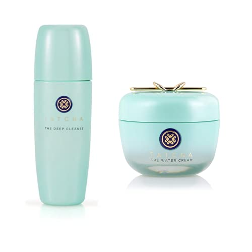 Tatcha Bundle The Deep Cleanse & The Water Cream: Deeply and Gently Exfoliate and Hydrate Skin