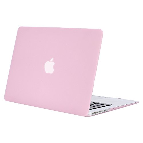 MOSISO MacBook Air 13 inch Case (Models: A1369 & A1466, Older Version 2010-2017 Release), Plastic Hard Shell Case Cover Only Compatible with MacBook Air 13 inch, Clear Pink