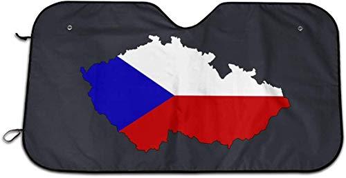 caohuaijian2 Tschechische Republik Tschechoslowakei Karte Auto Windschutzscheibe Sonnenschutz - Blockiert UV-Strahlen Sonnenblende Pr