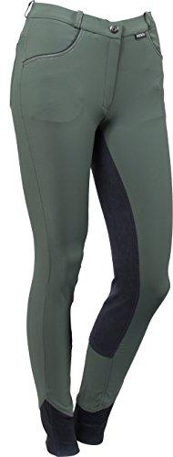 CATAGO Damen Vollbesatz Stiefelreithose Star | Dusty Green (40)