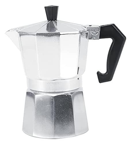 FDIT 3/6/9/12 CUPS ALUMINIO TIPO ITALIENTE MOKA POT ESPRESSO CAFÉ CAFÉSTA ESTUDE HOGAR OFICINA CAFEA COFFEET (Color : Silver, Size : 450ml)