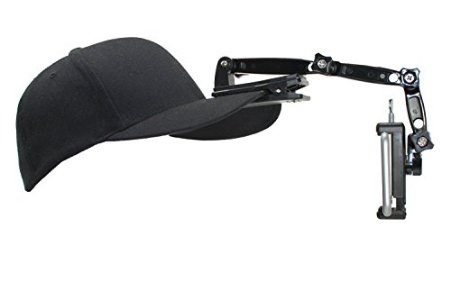 Livestream Gear Hat Clip Mount for Live Streaming, Video, Hands Free, or Vlogging. Includes Hat Clip, Extension Set, and Phone Holder. Hat Not Included. (Md. Phone Holder)