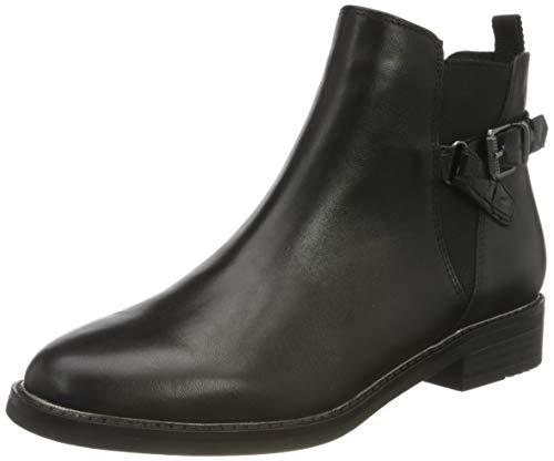 MARCO TOZZI Damen 2-2-25300-25 Leder Stiefelette, BLACK ANT.COMB, 39 EU