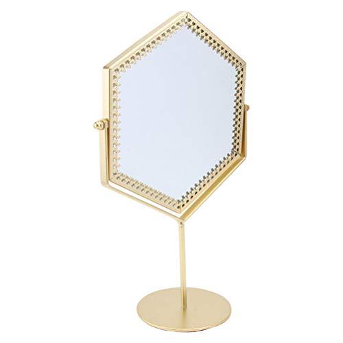 DFSDG Espejo de Escritorio Vintage de 1 Pieza, Espejo de Hierro para...