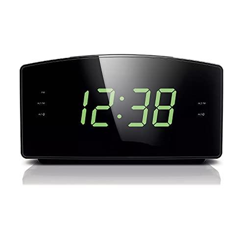 HD 720P Covert Alarm Clock Radio Spy Camera Hidden Nanny Camera Spy Gadget (SD Card Model/NO WI-FI)