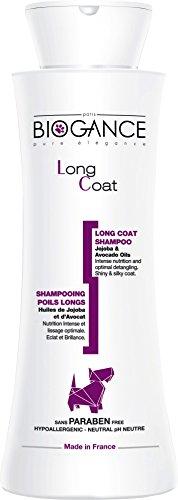 Biogance Shampoing Soin/Nettoie Pelage Poils Longs Origine Bio/Naturelle pour Animal de Compagnie 250 ML 5 Unités