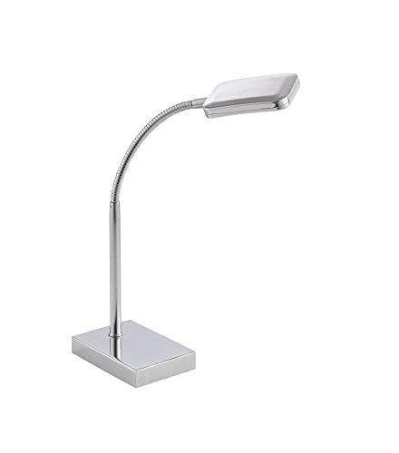 LeuchtenDirekt 11240-17 A+ Tischleuchte Eisen, 4,2 W silber