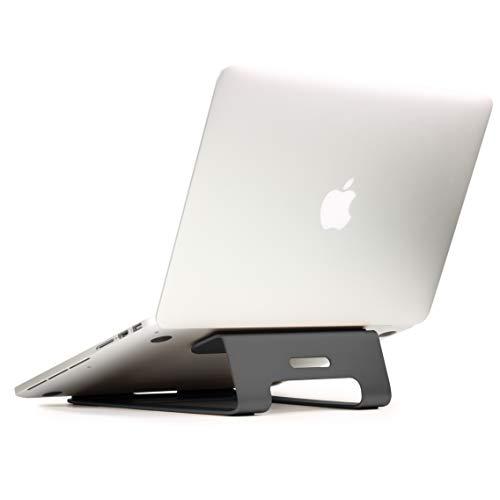 Urcover Aluminium Notebookständer und Halter für Apple MacBook Pro/Retina, Samsung Laptop, Asus Laptop, Lifebook, Netbook, Notebook, Lenovo Ultrabook Grau