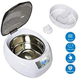 Mounchain Ultrasonic Cleaner Machine, Professional Jewelry Cleaner with Digital Timer for Jewelry, Eyeglasses, Watches, Rings, Necklaces, Coins, Razors, Dentures, Combs, 24oz/ 750mL Large Capacity