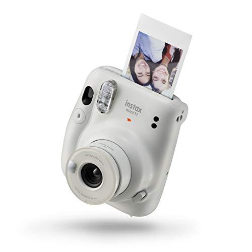 Fujifilm Instax mini 11 | blanco de hielo Cámara de desarrollo instantáneo | Selfie | Exposición automática | Foto Mini tamaño 62 x 46 mm