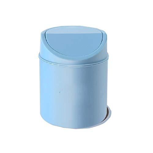 liushop Cubo de Basura Personalidad Papelera Creativa con Tapa Oficina Baño Dormitorio Sala de Estar Cocina Bote de Basura Caja de Basura 5L Bote de Basura (Color : BlueA)