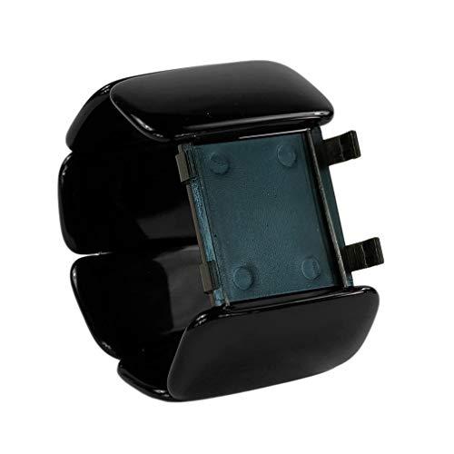 S.T.A.M.P.S. Armband Uhr Belta Oval, schwarz