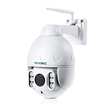 PTZ WiFi Camera Outdoor SV3C 1080P WiFi Wireless Security Cam Outdoor 5X Optical Zoom Pan 355° Wide Angle Human Motion Alarm Two-Way Audio 197ft Night Vision Waterproof Max 128GB SD Card Slot