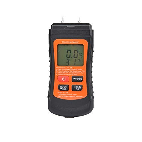 DAIMANPU Medidor de Humedad de Madera Digital Probador de Humedad de Papel Higrómetro de Pared Detector de Humedad de Madera Pantalla LCD