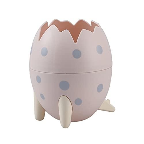 3 pack dinosaurio huevo con lápiz huevos de huevos escritorio suministros organizador escritorio pluma taza de almacenamiento olla contenedor papelería caja linda escritorio decoración para niños niño